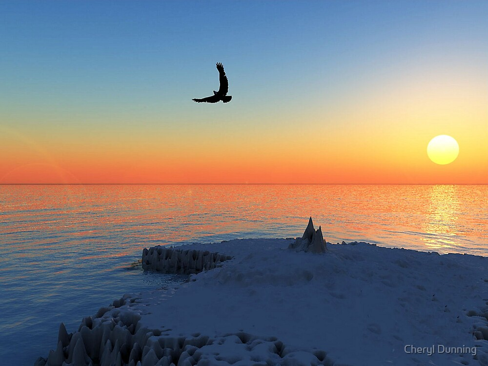 sunset view by Cheryl Dunning