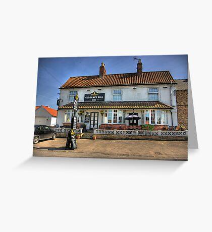 Old Black Bull Inn - Raskelf near York Greeting Card