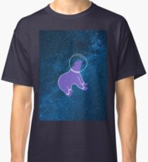 Cute bear floating in the galaxy Classic T-Shirt
