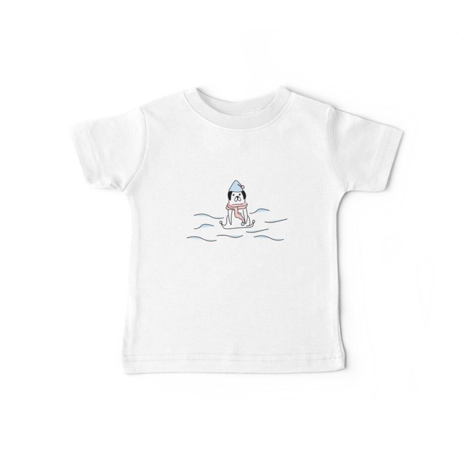 «nadador pug ilustración handdrawn perro» de BalloonLand
