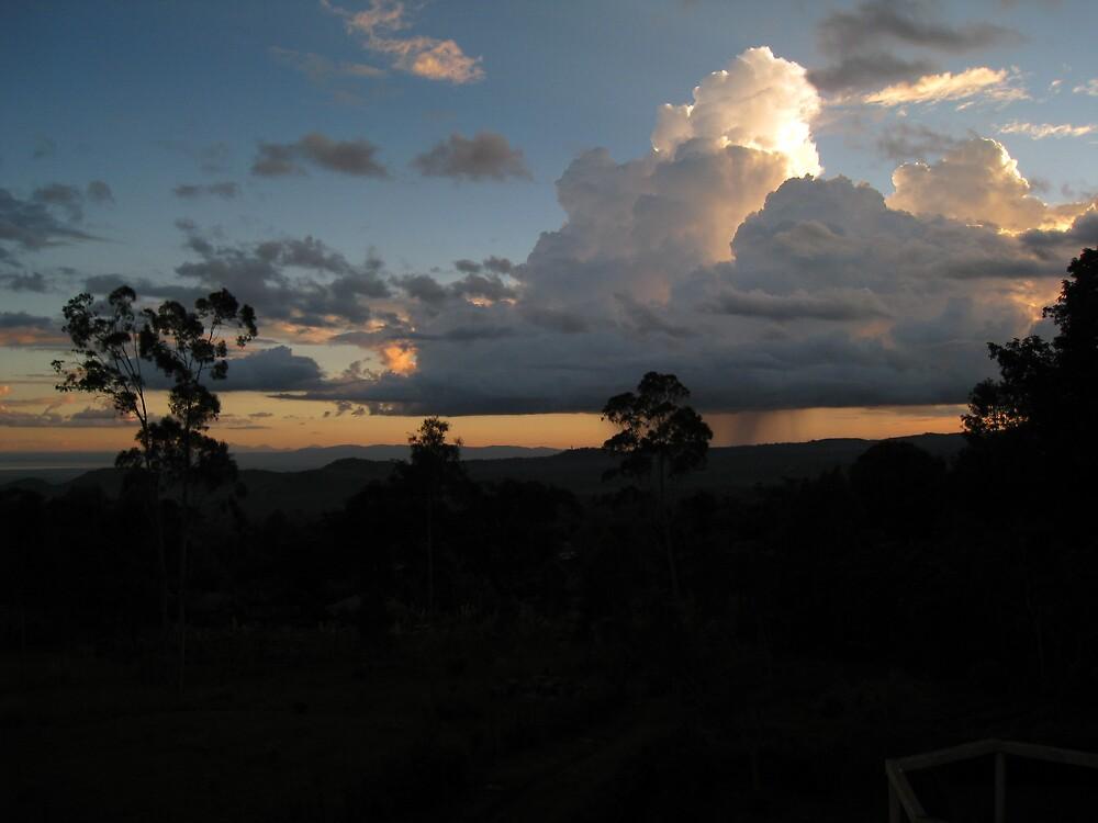 raincloud and sunset near moshi by mzungu