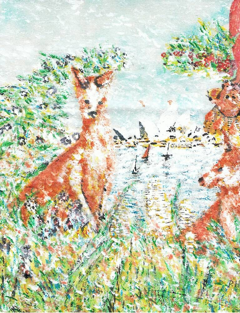Australian Scene by George Coombs