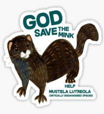 Pegatina God save the Mink (FIEB)