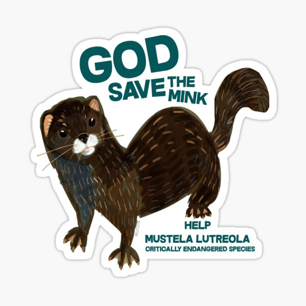 God save the Mink (FIEB) Pegatina
