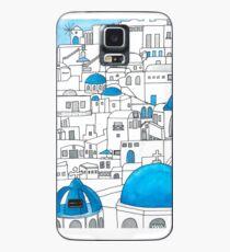 Funda/vinilo para Samsung Galaxy Santorini, paraíso azul y blanco