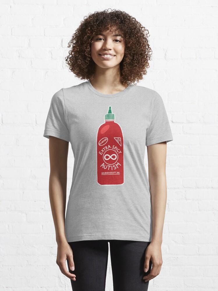 Alternate view of Extra Spicy Autistic Pride Essential T-Shirt
