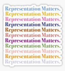 Representation Matters Inclusion Retro Design Sticker