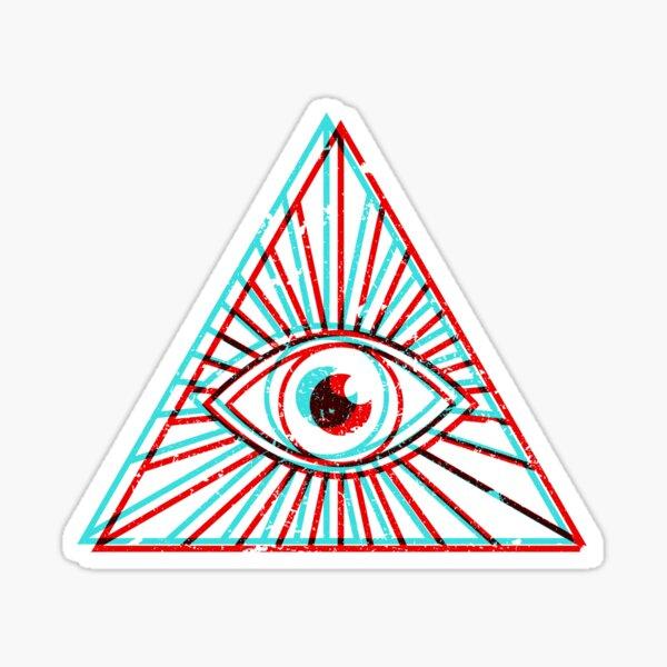 3D All Seeing Eye Sticker