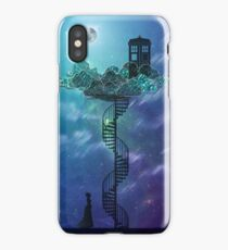 Blue Box in the Victorian Sky iPhone Case