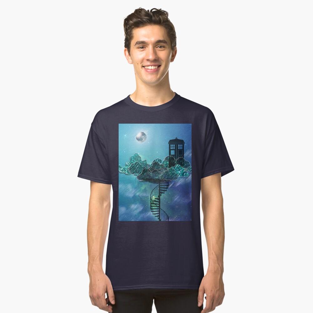 Caja azul en el cielo victoriano Camiseta clásica