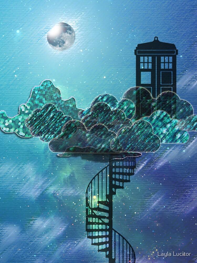 Caja azul en el cielo victoriano de Auroraneko