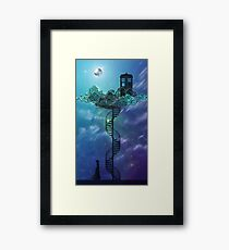 Blue Box in the Victorian Sky Framed Print