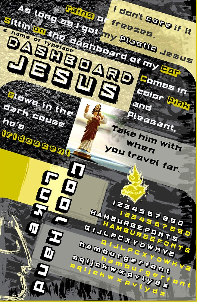 Typeface Dashboard Jesus Sample Page by chung-deh tien