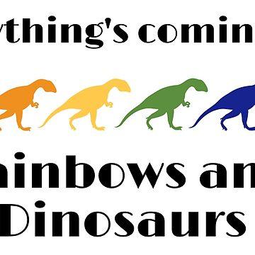 Rainbows and Dinosaurs by chollabear