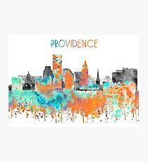 Providence, Providence skyline,  watercolor Providence Photographic Print