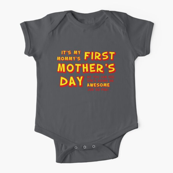 Mommy's First Mother's Day Short Sleeve Baby One-Piece
