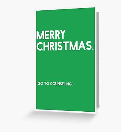 Merry Christmas (GTC) Greeting Card - Green Greeting Card