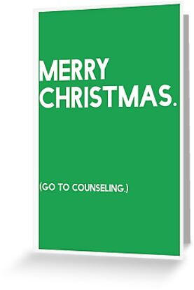Merry Christmas (GTC) Greeting Card - Green by CXMH