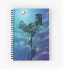 Blue Box in the Victorian Sky Spiral Notebook