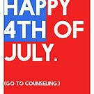 4th of July (GTC) Greeting Card - Flag by CXMH