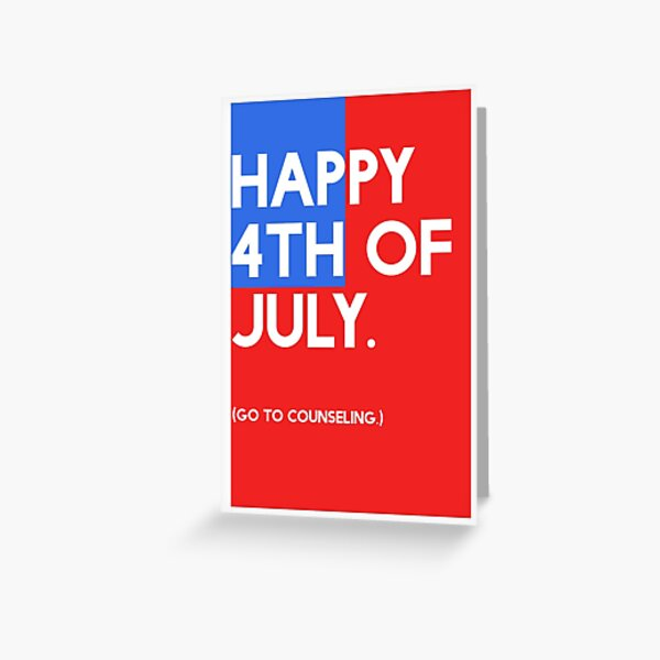 4th of July (GTC) Greeting Card - Flag Greeting Card