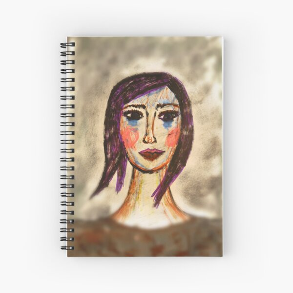 A Girl With A Bob Crying Blue Tears Spiral Notebook