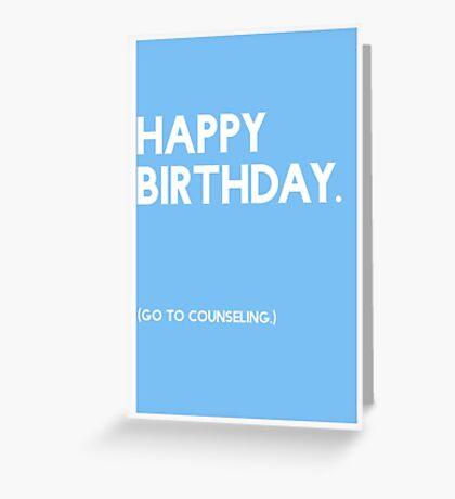 Birthday (GTC) Greeting Care - Blue Greeting Card