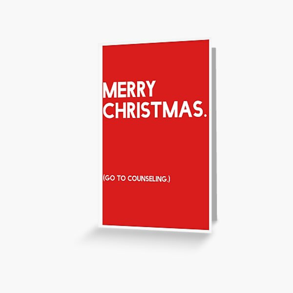 Merry Christmas (GTC) Greeting Card - Red Greeting Card