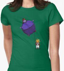 Zu viel Bubblegum Tailliertes T-Shirt für Frauen