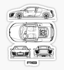 Auto Bauplan: Sticker | Redbubble