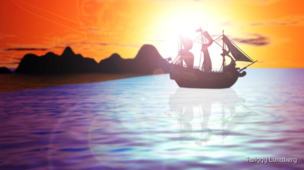 Black Sails In The Sunset by JayBakkerArt