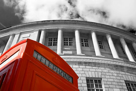 Red telephone box and Manchester library by Stephen Knowles