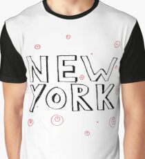 New York with red circles Graphic T-Shirt