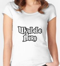 Ukulele Hero! Women's Fitted Scoop T-Shirt