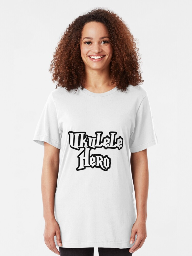 Alternate view of Ukulele Hero! Slim Fit T-Shirt