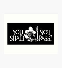 You Shall Not Pass! Variant Art Print