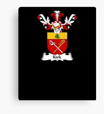 Kirk Coat of Arms - Family Crest Shirt Canvas Print