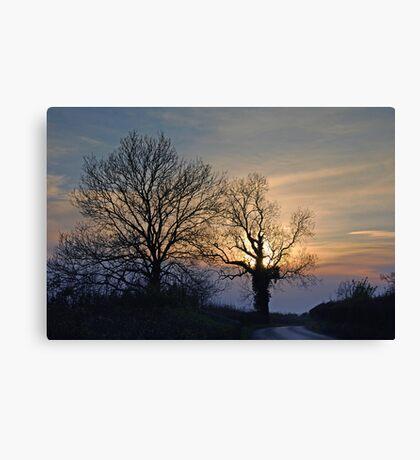 twilight lane Canvas Print