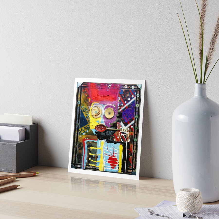 Feast Up Young King Art Board Print
