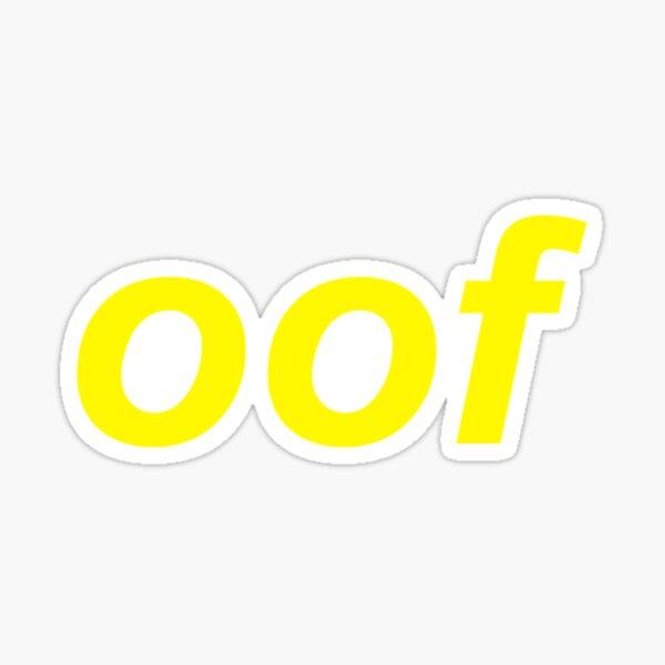 Bob Esponja Cancion Vercion Roblox Oof W Youtube Oof Meme Stickers Redbubble