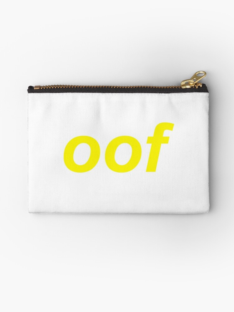 'oof roblox death sound meme' Zipper Pouch by general pluto