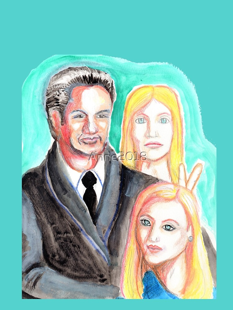 Mulder and Scully are photobombed by a Pleiadian Alien by Anne2018