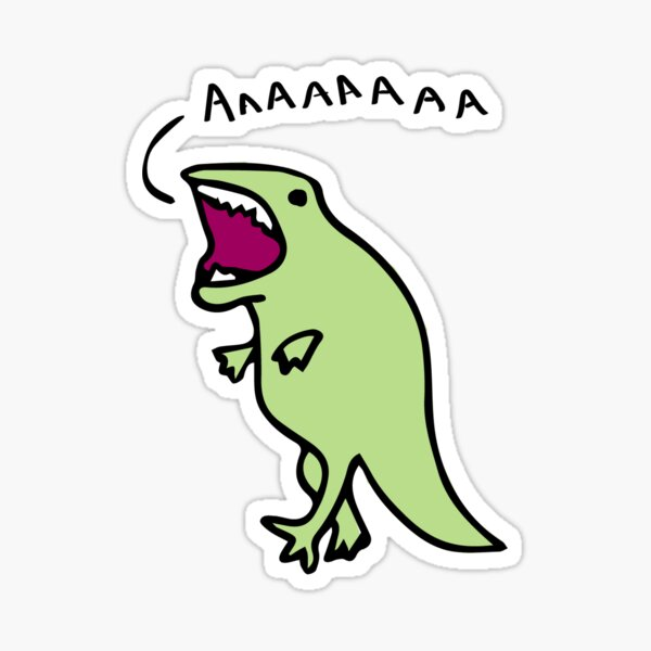 AHHHHHHHHHHH Dinosaur Sticker