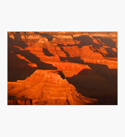 Evening Shadows in the Canyon Photographic Print