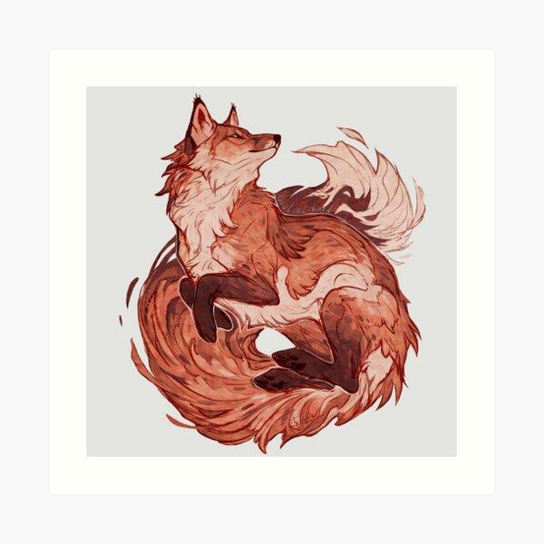 Red fox 2018 redraw  Art Print
