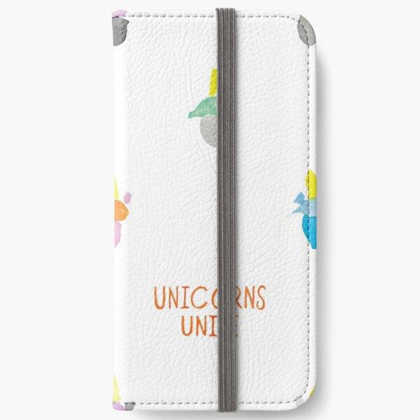 Unicorns Unite Pattern 1 iPhone Wallet