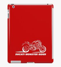 Ducati Monster Rider - on Red iPad Case/Skin