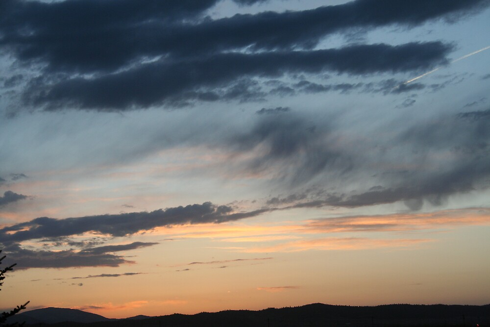 sunset over the rockies by younks