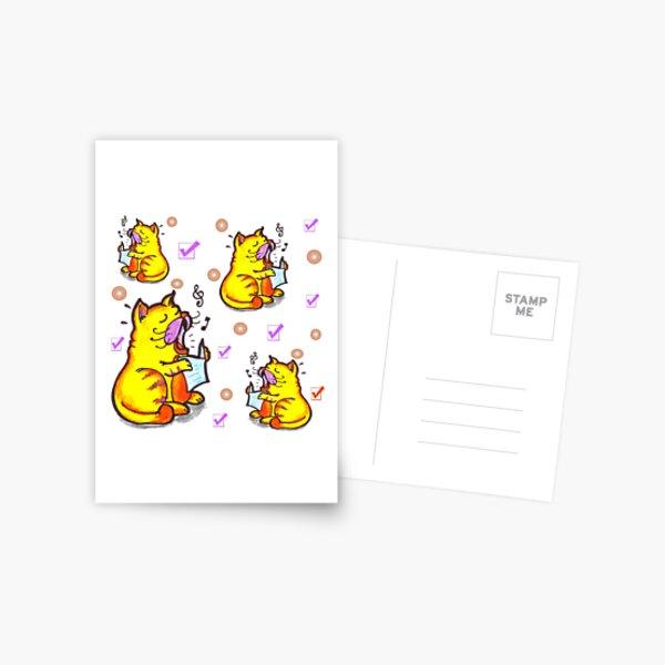 Tabby the singing kitty cat Postcard