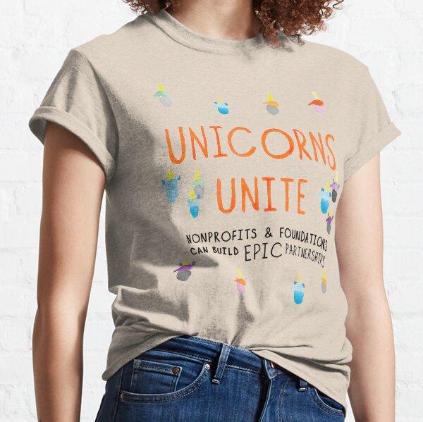 Unicorns Unite Epic Cover Classic T-Shirt